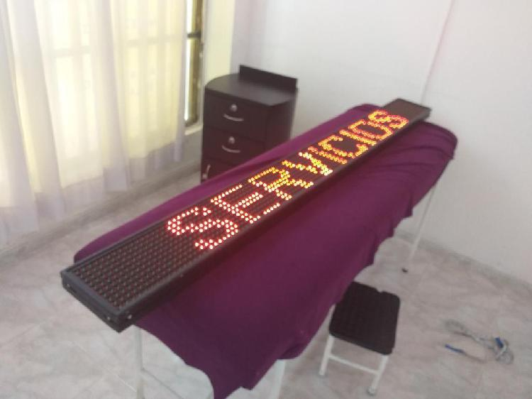 Aviso led letras moviles 7 colores