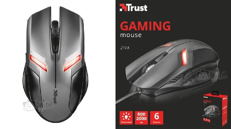 Mouse trust gamer ziva alambrico usb