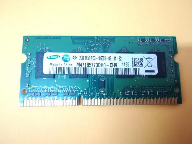Memoria ram 2gb portátil pc3 10600s samsung