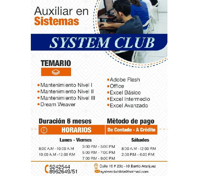 Curso de auxiliar en sistemas