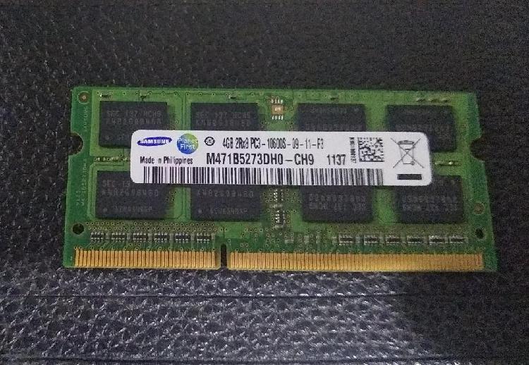 Memoria ddr3 4gb pc3 10600s portatil