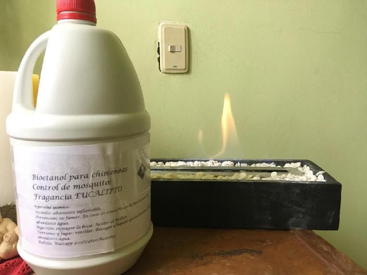 Biocombustible control zancudos y mosquitos para chimeneas,