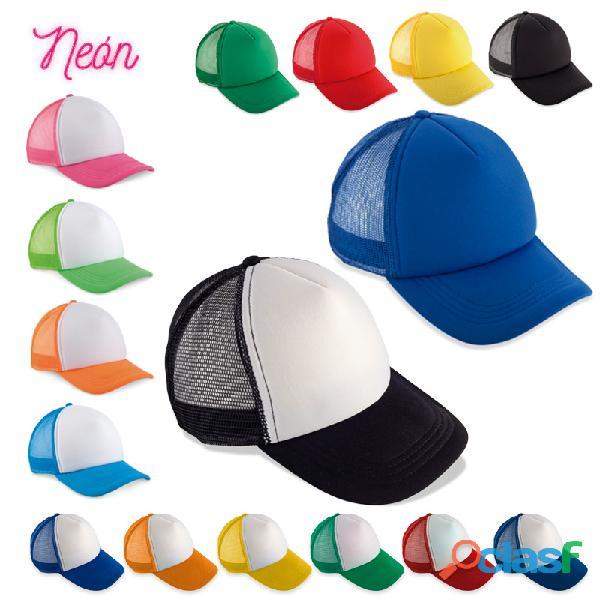 Gorras personalizadas en dril y malla
