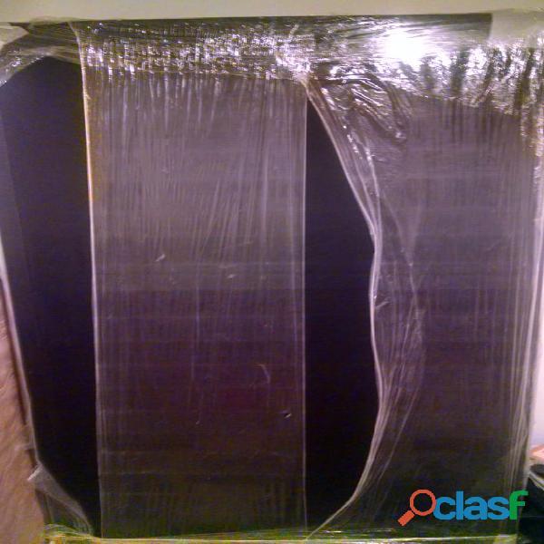 Base Cama Completa Sencilla 100x190 cm Negra
