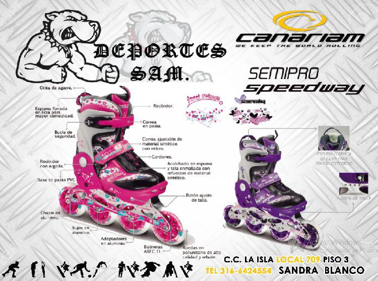 Patines semiprofesionales canariam speed way
