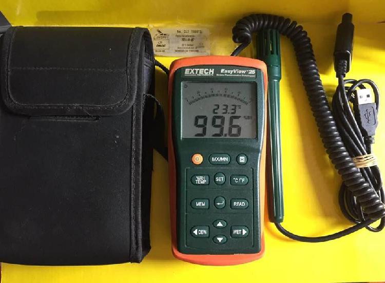 Higrometro termometro extech ea25 digital registrador datos
