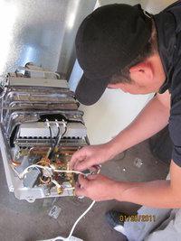 Servicio de instalación de calentadores, derivación de