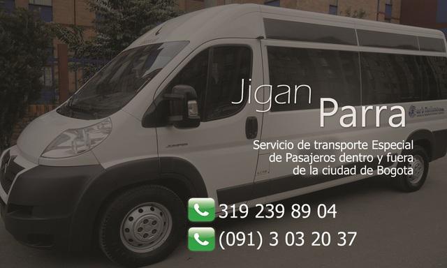 Transporte en vans y bus - servicio especial en bogota