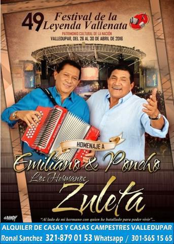Arriendo casas y casas campestres para festival vallenato en