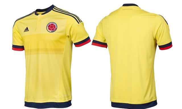 Camiseta original adidas selección colombia 2015 amarilla