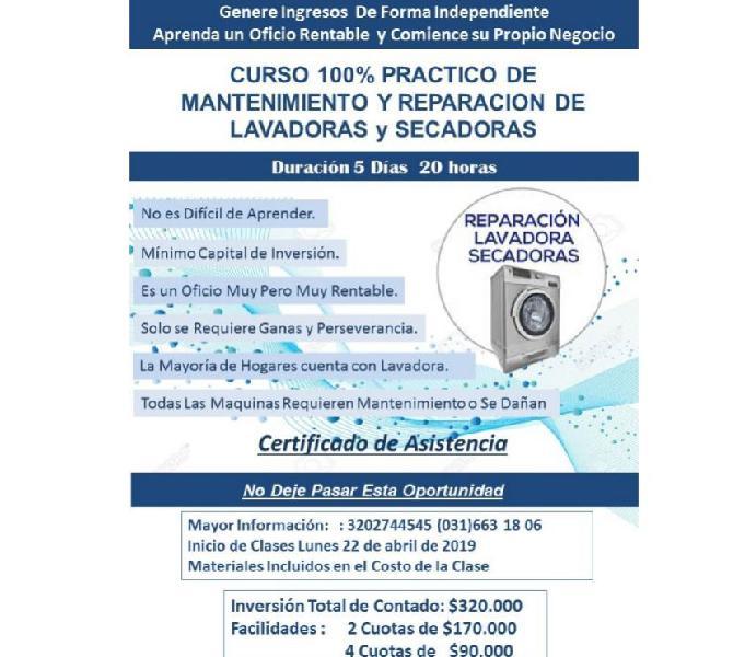 Curso de reparación de lavadoras y secadoras 100% practico