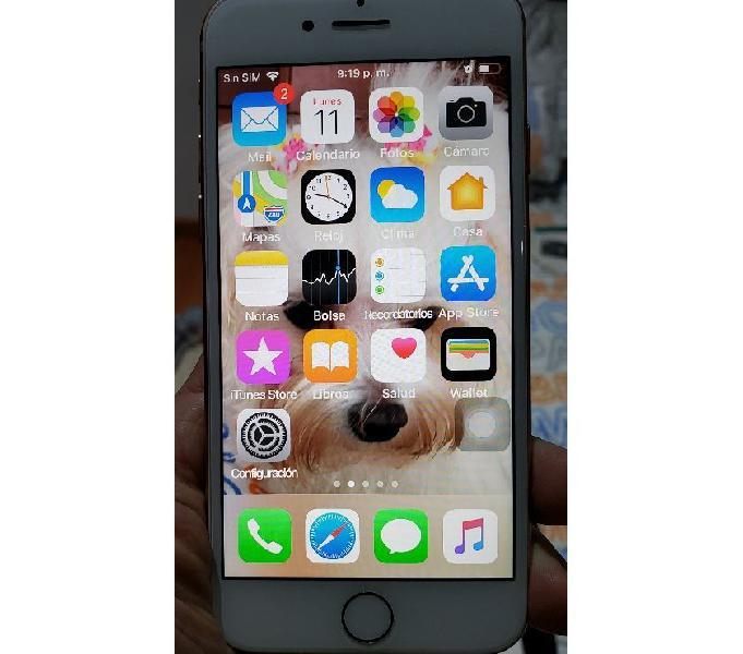 Iphone 8 color dorado 64gb, libre.