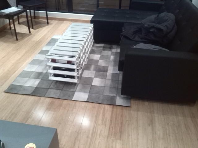 Fabricación de tapetes en cuero, tapetes modernos, tapetes