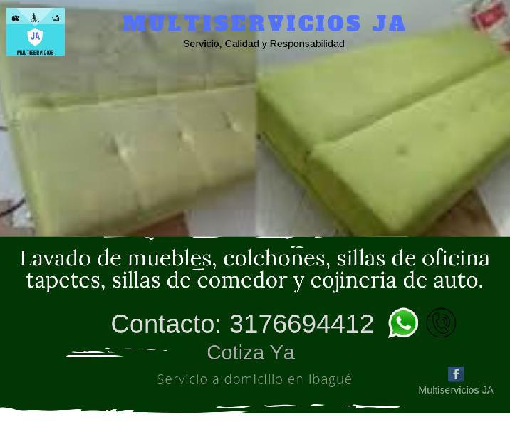 Lavado profesional de muebles