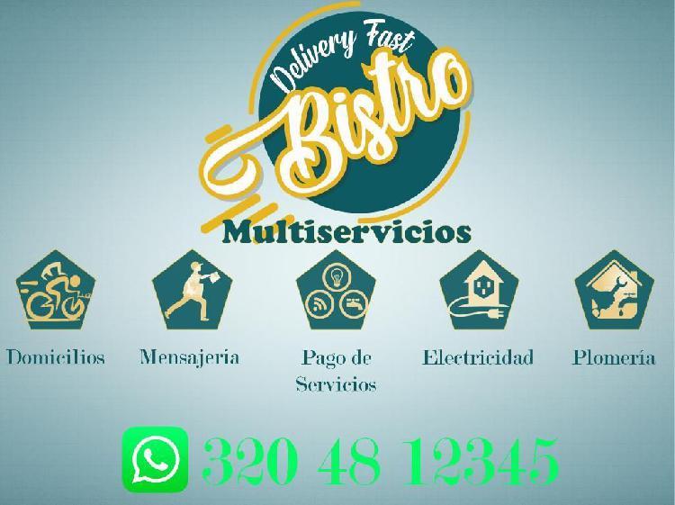Mensajería domicilios pago de servicios