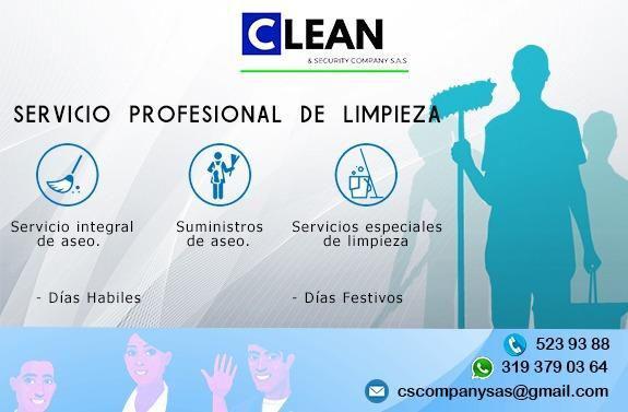 Ofrecemos servicios de aseo, limpieza