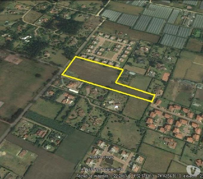 Se vende lote 12,744 mt2 en chia con proyecto para casas