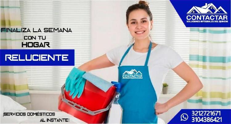 Servicio doméstico a tu disposición