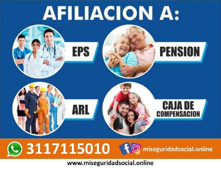 Seguridad social en salud, pension, arl y caja 3117115010