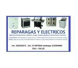 Servicio de limpieza total para equipos a gas, electricos