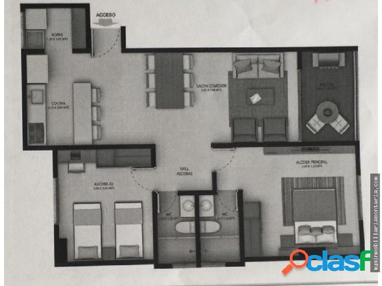 Vende apartamento para estrenar en monteverde