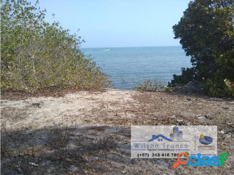 Lote terreno en venta, playa, isla barú, cartagena
