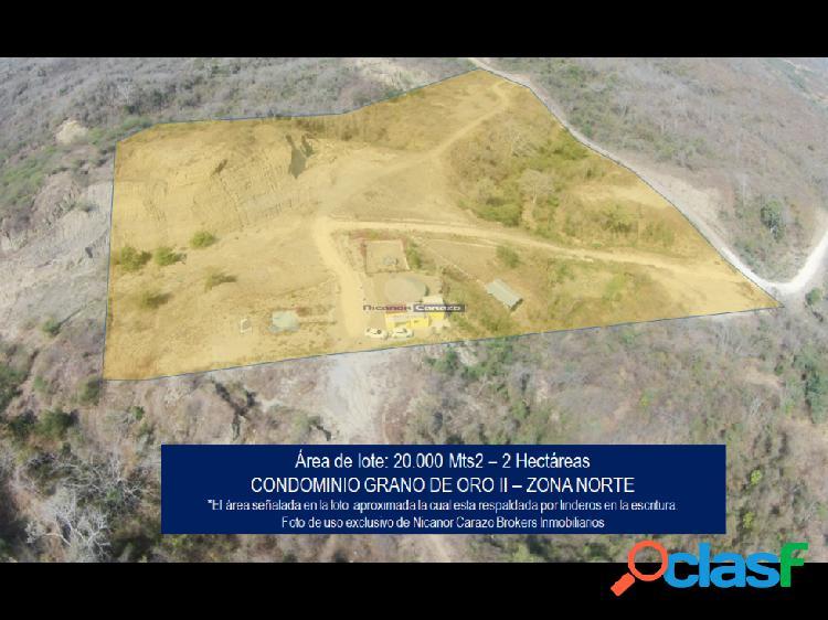 Vendemos lote 2 hectareas en zona norte cartagena