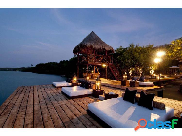 Hotel en la isla de barú.