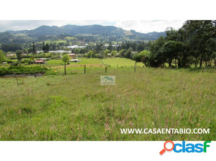 Vendo lote 1.000mts en tabio rio frio occidental