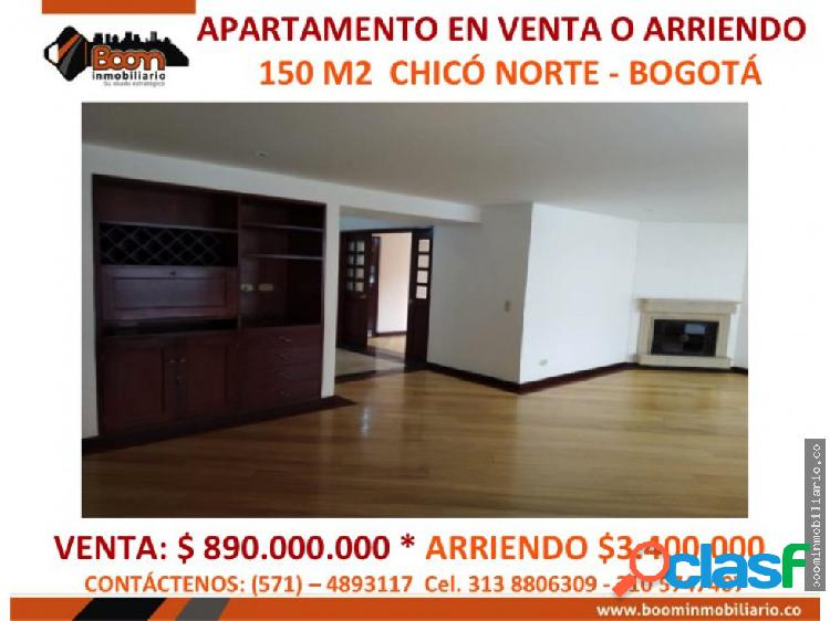 *venta arriendo apartamento 150 m2 chico