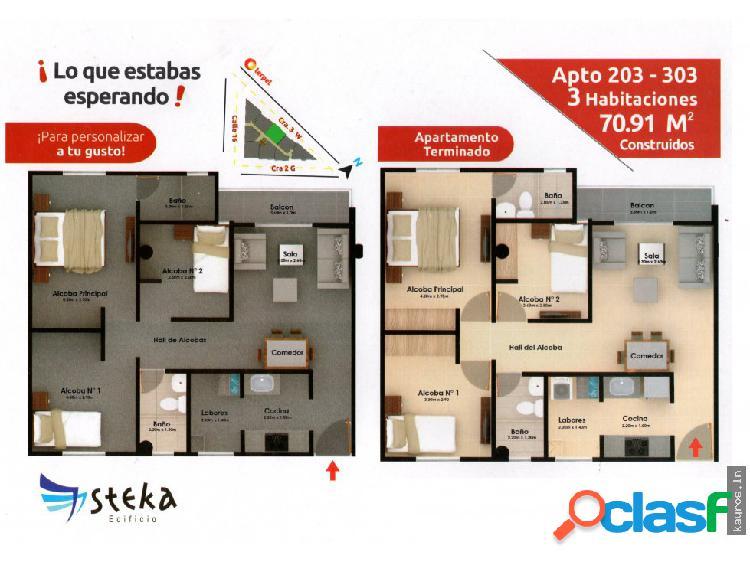 Apartamentos en planos 3 habitaciones
