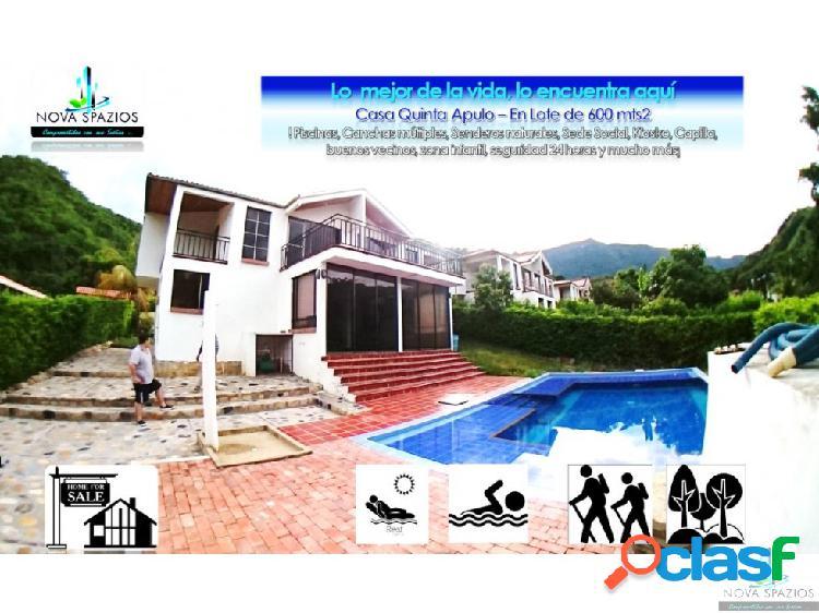 Venta casa quinta campestre apulo-piscina 600 mtr