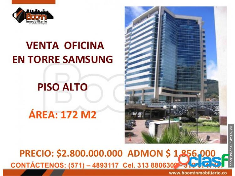 **venta oficina 172 m2 torre samsung