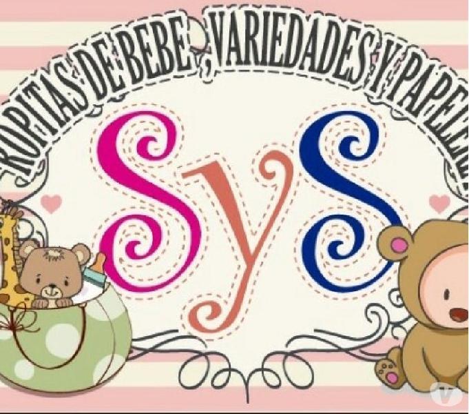 Ropitas de bebe, variedades y papeleria sys