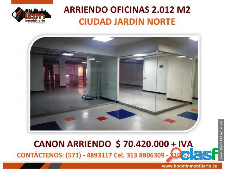 *arriendo oficinas 2.012 m2 economicas