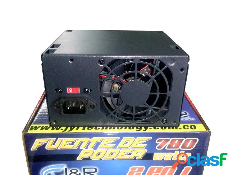 Fuente de poder atx 780 watts j&r