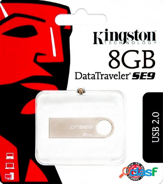 Memoria usb 8 gb metalica kingston dtse9