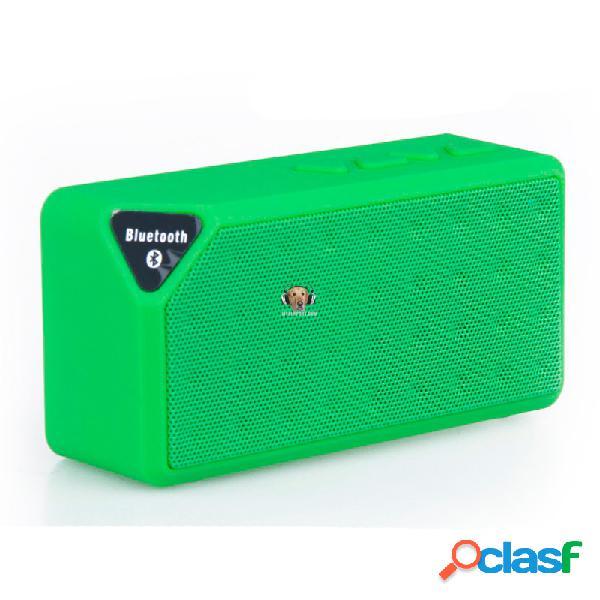 Mini parlante bluetooth x3 usb fm micro sd aux