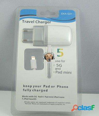 Cargador viajero iphone 5 ipad mini