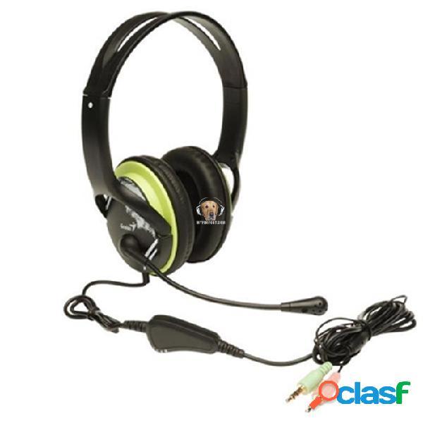 Diadema microfono audifono hs-400a verde genius