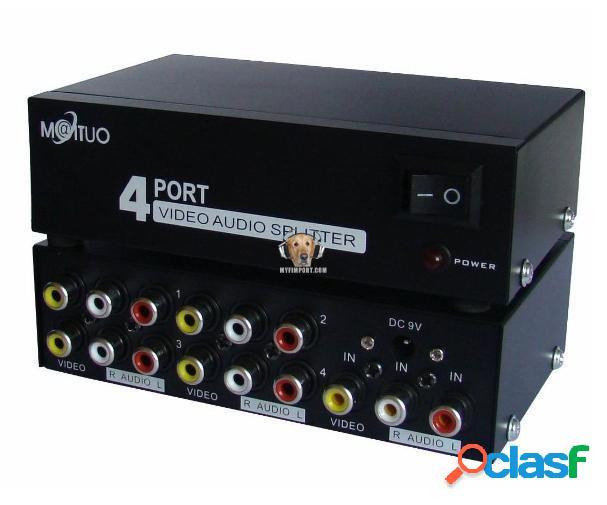 Splitter rca 4 puertos 1 entrada 4 salidas