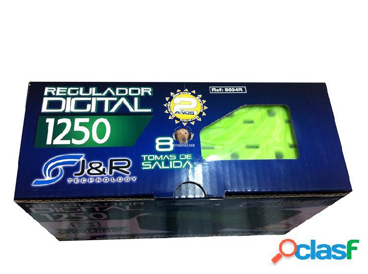 Regulador de 8 tomas 1250 va 8004r j&r