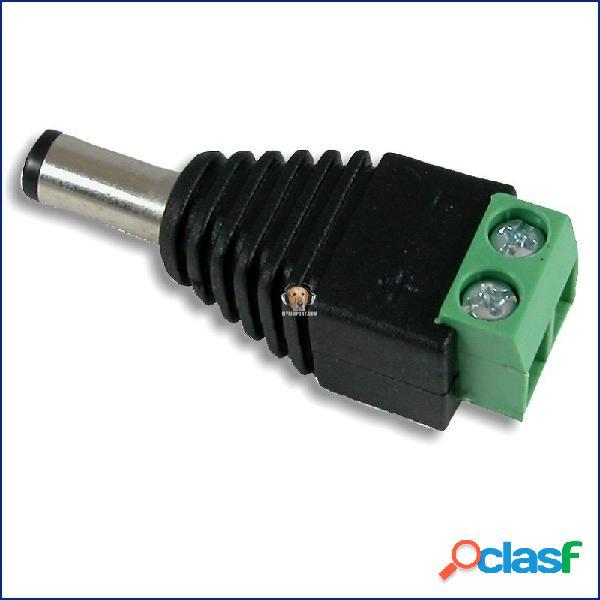 Conector de corriente macho para cctv