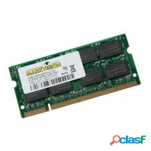 Memoria ram ddr2 para portatil 800 mhz 2gb markvision