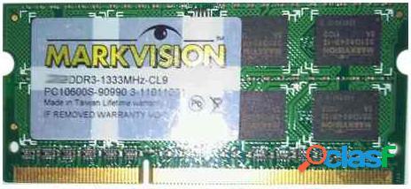 Memoria ram ddr3 para portatil 1333 mhz 4gb markvision