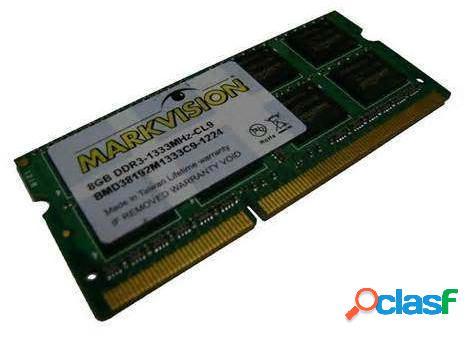 Memoria ram ddr3 para portatil 1333 mhz 8gb markvision