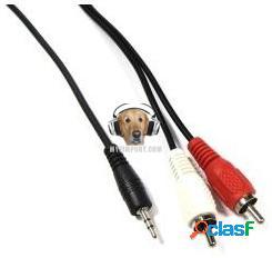 Cable de audio 2 x 1 plug estereo a rca