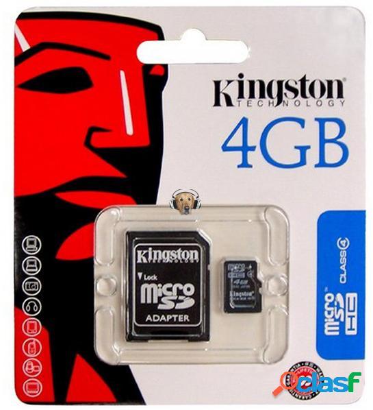 Memoria micro sd-hc 4gb kingston