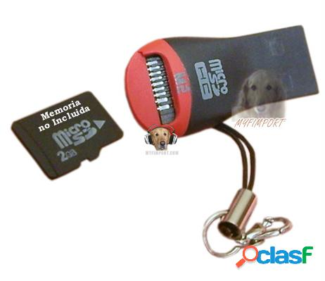 Mini Lector de Tarjetas Micro SD y M2