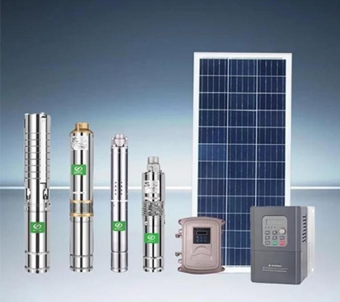 Bomba sumergible solar controlador